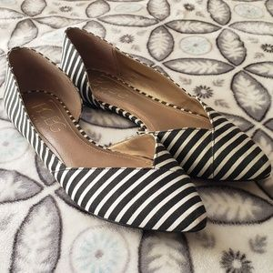 BCBG Paris Striped Flats